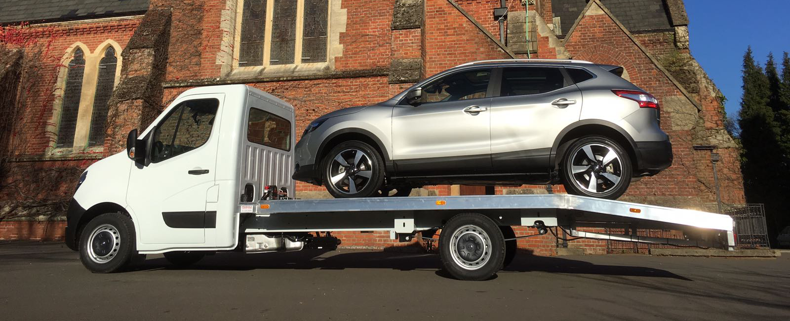 Large Car on Vehicle transporter