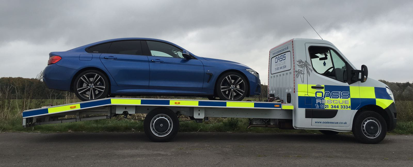 Oasis Rescue Branded Car Transporter - Loaded