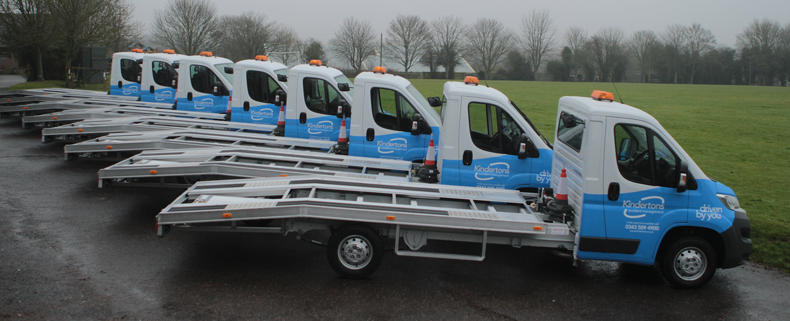 Kinderton Branded Car Transporters - Different View